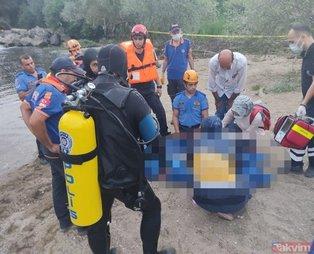 Yer: Bursa Yenişehir... Serinlemek için çaya girenadam hamile eşinin gözü önünde boğuldu