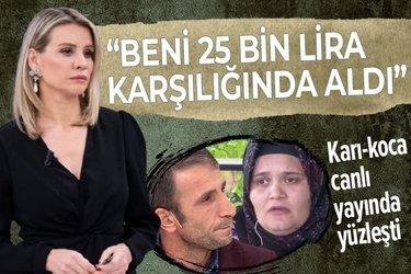 """Şaban Zekin eşi Mine'yle Esra Erol'da yüzleşti! """"Beni 25 bin lira karşılığında aldı"""" dedi tüm iddiaları yalanladı"""