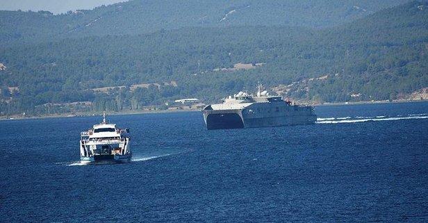 Dikkat çeken görüntü! ABD savaş gemisi...