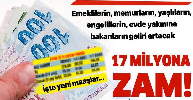 17 milyona zam