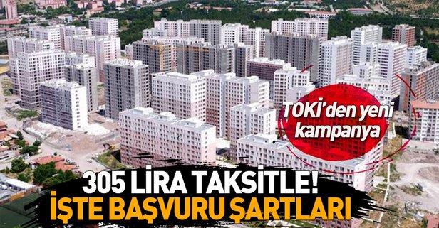 TOKİ'den yeni kampanya! 5 bin TL peşinat ve...