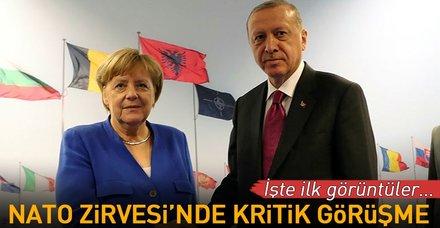 Nato Zirvesi'nde gerçekleştirilen Erdoğan - Merkel görüşmesi sona erdi