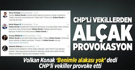 CHP'li vekillerden alçak provokasyon
