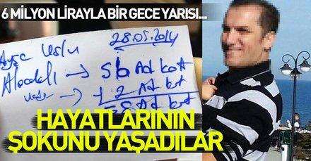 Yer: Trabzon... 6 milyon lirayla bir gece yarısı ortadan kayboldu