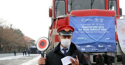 Türkiye'den Çin'e giden ilk ihracat treni Hazar'a açılacak