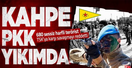 680 PKK/YPG'li terörist TSK ile savaşmak istemedi