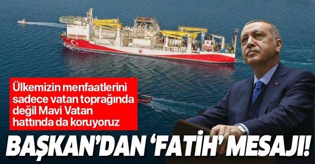 Erdoğan'dan 'Fatih sondaj gemisi' paylaşımı!