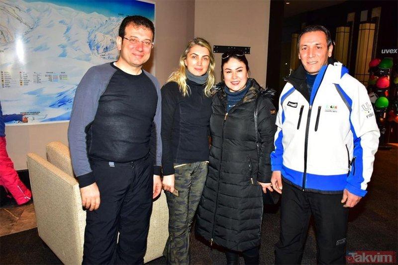 Ekrem İmamoğlu Elazığ'daki depremin yaraları sarılmadan tatile çıktı! Erzurum'da kayak yapıyor
