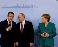 Putin, Merkel ve Macron görüştü! Suriye ve Libya...