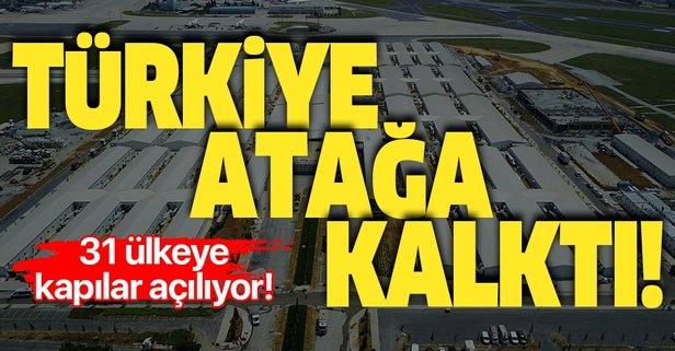 Türkiye atağa kalktı! 31 ülkeye kapılar açılıyor