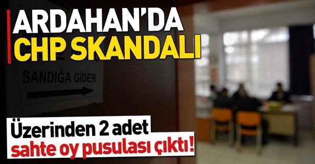 Ardahan'da CHP skandalı