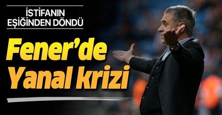 Fenerbahçe'de Ersun Yanal krizi! İstifanın eşiğinden döndü