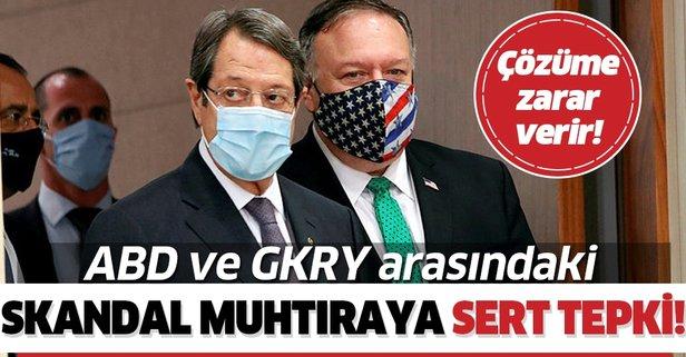 Türkiye'den skandal muhtıraya sert tepki!
