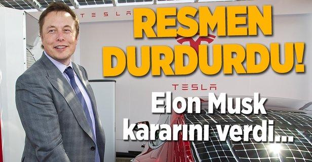 Tesla üretimi durdurdu