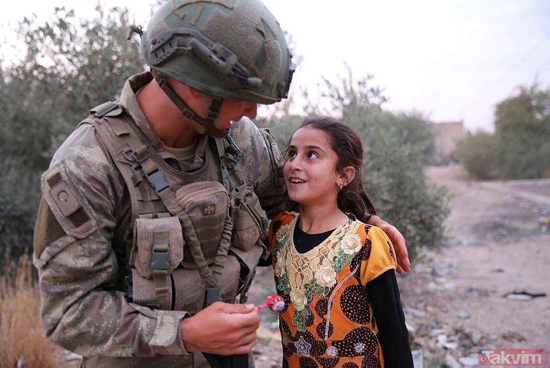 Mehmetçik'ten YPG'nin zulmüne maruz kalan halka şefkat eli!