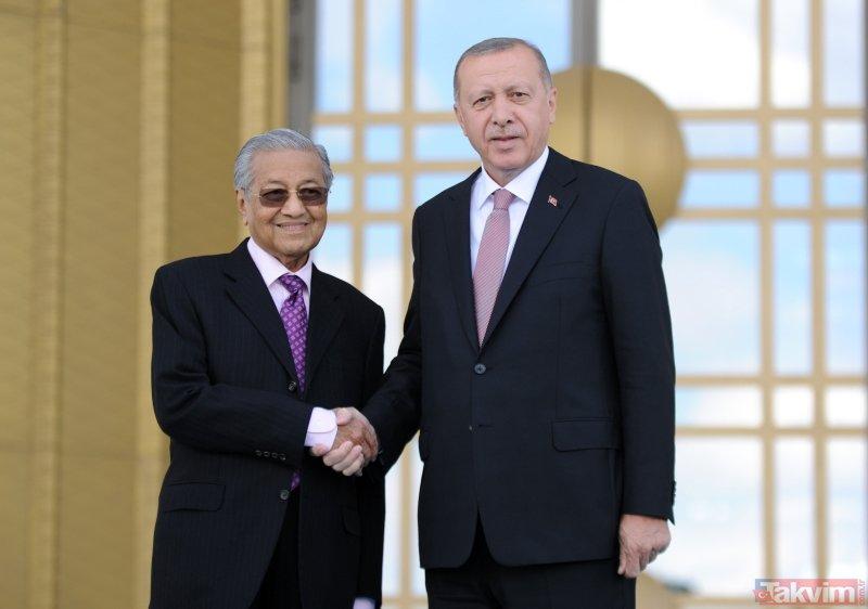 Başkan Erdoğan, Malezya Başbakanı Mahathir Muhammed'i Ankara'da karşıladı