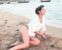 37 yaşına plajda girdi