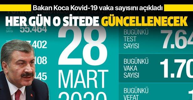 Bakan Koca Kovid-19 vaka sayısını açıkladı