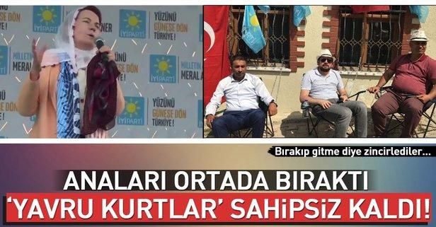 İYİ Partililer kendilerini Akşener'in evine zincirlediler