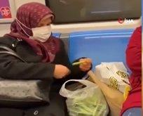 Metroda fasulye ayıklayan teyze video hakkında konuştu!