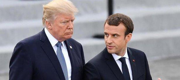 ABD Başkanı Donald Trump ve Macron telefonda koronavirüsü görüştü