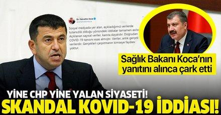CHP'li Ağbaba'dan skandal Kovid-19 iddiası! Bakan Koca'dan jet cevap