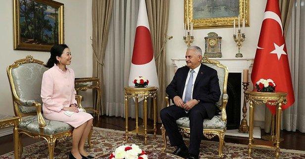 Binali Yıldırım, Japonya Prensesi Mikasa'yı kabul etti