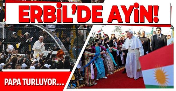 Papa Erbil'de ayin yaptı