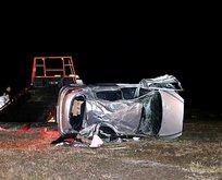 15 yaşındaki çocuğun kullandığı otomobil devrildi