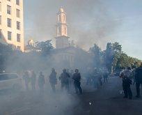 Yüzlerce protestocuya gözaltı