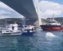 İstanbul Boğazı'nda gemi kazası! Balıkçı teknesi battı