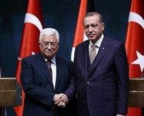Başkan Erdoğan, Filistin Devlet Başkanı ile görüştü