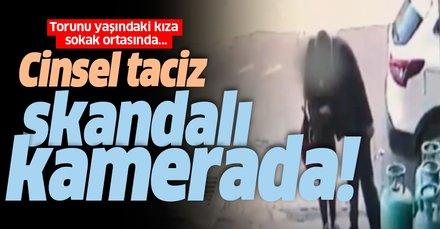 Bitlis Tatvan'da 'cinsel taciz' skandalı kameralarda! Torunu yaşındaki kızı taciz etti...