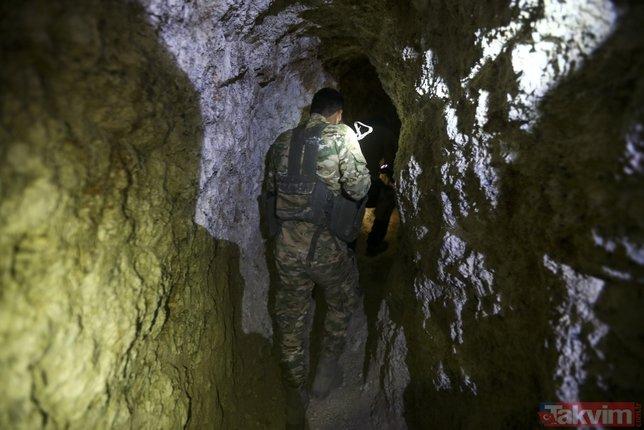 Rasulayn'daki YPG/PKK tünellerinin kazımında özel makineler kullanılmış!