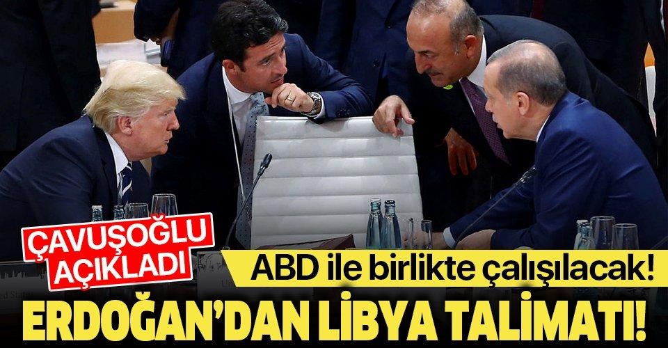 Son dakika: Bakan Çavuşoğlu açıkladı: Başkan Erdoğan ve Trump'tan Libya'da ortak çalışma talimatı