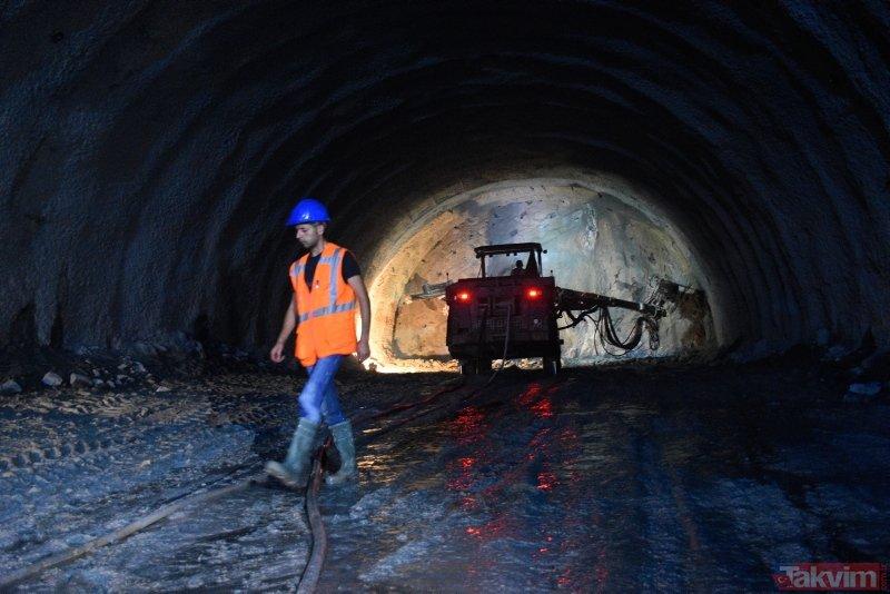 Dünya Türkiye'yi konuşacak! Yeni Zigana Tüneli'nde ışığa 11 kilometre kaldı