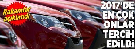 2017 yılı rakamları belli oldu! Türkiye'de en çok bu otomobiller satıldı