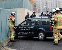 Başbakanlık binasına araçla saldırı girişimi