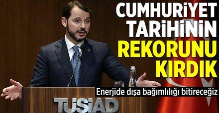 """Bakan Albayrak: """"Cumhuriyet tarihinin rekorunu kırdık"""""""