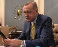 Başkan Erdoğan'dan tebrik...