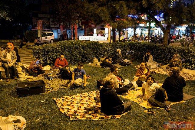 İstanbul´da 5.8´lik deprem sonrası milyonlar sokaklara akın etti! İşte İstanbul´dan kareler...