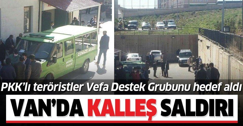 Son dakika: PKK'dan kalleş saldırı! Van'da Vefa Sosyal Destek Grubu görevlisi 2 kişi şehit oldu