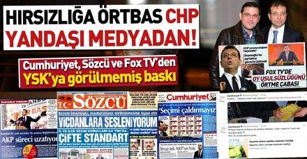 Hırsızlığa örtbas CHP yandaşı medyadan!