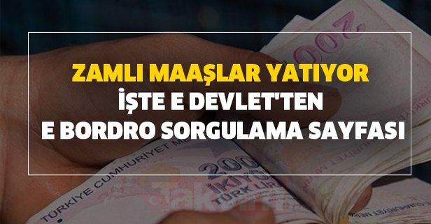 Zamlı maaşlar yatıyor-işte e devlet'ten e bordro sorgulama sayfası