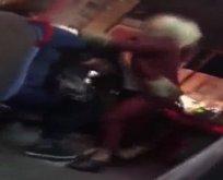 Halk otobüsünde yumruklu kavga