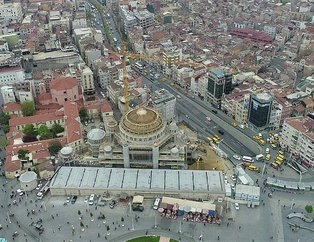 Taksim Camii inşaatında son durum havadan görüntülendi