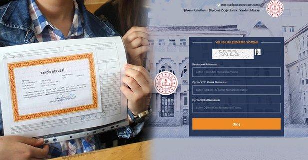 E-Okul ile karne notları görüntüleme