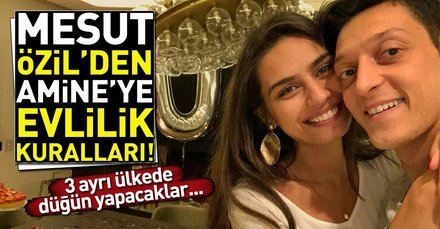 Mesut Özil ile Amine Gülşe evleniyor! 3 ayrı ülkede düğün yapacaklar