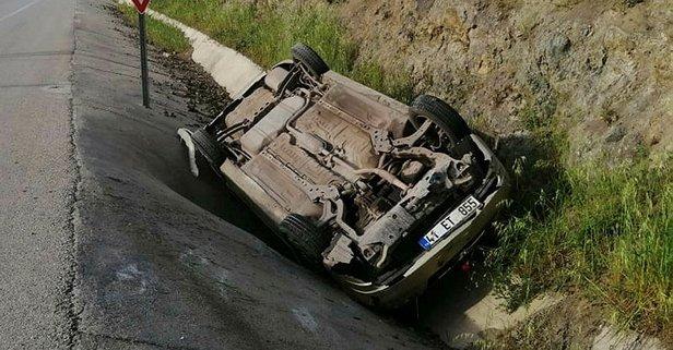 Çanakkale'de feci kaza! Kontrolden çıktı takla attı