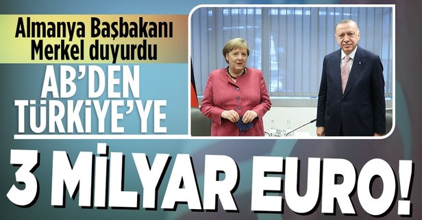 Türkiye'ye göç anlaşması için 3 milyar Euro